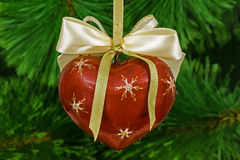 Decoration in form of pendants in the shape of heart for Christm Royalty Free Stock Photo