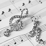 Decoration in the form of a treble clef Stock Images