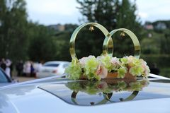 Decoration in the form of wedding rings stock image
