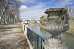 Decoration, Fountains and gardens of the palace of Aranjuez in M Stock Photos
