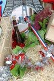 Decoration of French wine Stock Image