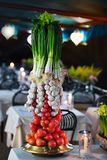 Decoration with fresh vegetables Stock Image