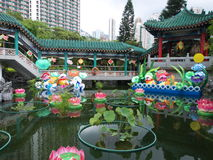 Decoration in garden, wong tai sin temple Stock Images