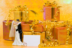Decoration with gift boxes Royalty Free Stock Photo