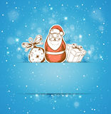 Decoration, gift and Santa Claus Stock Photos