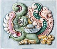 Decoration on Gopuram of Rathinagiri Hill Temple. Stock Images