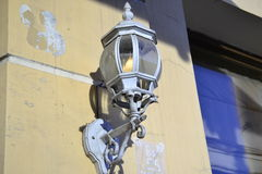 Decoration of the historical russian building lamp Royalty Free Stock Photo