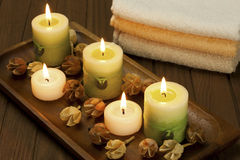 Decoration of home spa Stock Photos