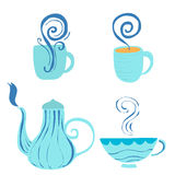 Decoration of hot drink container vector art Royalty Free Stock Photography
