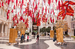 Decoration in the hotel lobby, Macao Royalty Free Stock Image