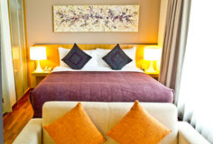 Decoration of a hotel room royalty free stock photos