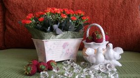 Decoration in the house. christmas decoration valentines day gift royalty free stock photos