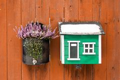 Decoration of house with flowers stock photo