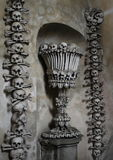 Decoration from human bones and skulls Stock Image