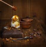 Decoration of ice cream Stock Photos