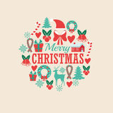 Decoration icon set. Merry Christmas. Vector graphic Royalty Free Stock Photography