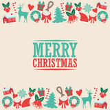 Decoration icon set. Merry Christmas. Vector graphic Royalty Free Stock Photos