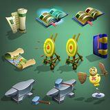 Decoration icons for games. Stock Photos
