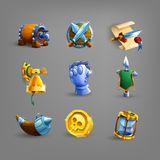 Decoration icons for games. Vector illustration Royalty Free Stock Photography