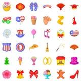 Decoration icons set, cartoon style. Decoration icons set. Cartoon style of 36 decoration vector icons for web isolated on white background Stock Photo