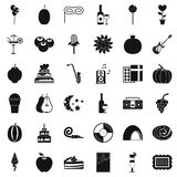 Decoration icons set, simple style. Decoration icons set. Simple style of 36 decoration vector icons for web isolated on white background Royalty Free Stock Images