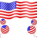 Decoration of independence day. Illustration stock illustration