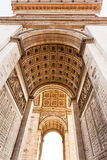 Inner facade of Triumphal Arch in Paris Stock Photography
