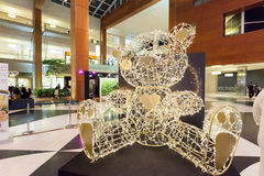 Decoration inside of the 360 mall in Kuwait Royalty Free Stock Photography