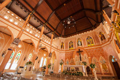 Decoration Inside the Roman Catholic Church at Chanthaburi Provi. Nce, Thailand. (The Cathedral of the Immaculate Conception Stock Photo