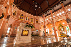 Decoration Inside the Roman Catholic Church at Chanthaburi Provi. Nce, Thailand. (The Cathedral of the Immaculate Conception Stock Photos