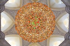 Decoration inside of Sheikh Zayed Mosque Stock Photography