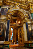 Decoration of an interior in the St. Isaac's Cathedral, St. Petersburg Stock Images