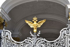 Decoration item Hermitage Golden Eagle. View of a decoration item Hermitage Golden Eagle Stock Photos