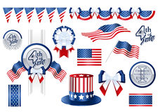 Decoration items for Fourth of July Stock Photography