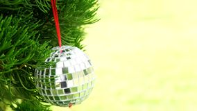 Decoration items on pine tree background Christmas with pine corn. Decoration items on Christmas tree , background Christmas with ball stock photography