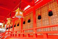 Decoration of Japanese shrine Stock Photography