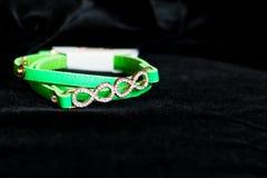 Decoration jewelery bracelet green Stock Photo