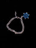 Decoration jewelry metal bracelet. On a black background Stock Photo