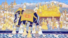 The decoration of the Jodhpur Palace. Stock Image