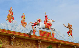 Decoration of Khmer temple in Vietnam Stock Photo