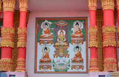 Decoration of Khmer temple in Vietnam Royalty Free Stock Image