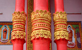 Decoration of Khmer temple in Vietnam Royalty Free Stock Photos