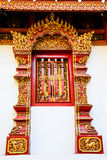 Decoration on lanna style temple window Royalty Free Stock Image