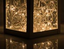 Decoration lantern with led lights Royalty Free Stock Photo
