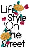 Decoration life style on the street print design for t-shirt royalty free stock photography