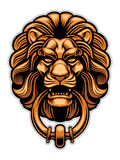Decoration of Lion door knocker Royalty Free Stock Image