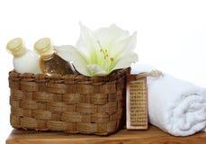 decoration lotion soap spa πετσέτα Στοκ φωτογραφία με δικαίωμα ελεύθερης χρήσης