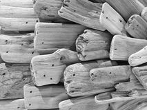 Decoration made of cut wood black and white picture royalty free stock photography