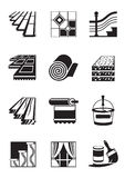 Decoration materials for interior. Vector illustration Royalty Free Stock Image