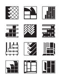 Decoration materials for interior. And exterior - vector illustration Stock Images